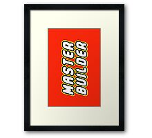 MASTER BUILDER by Customize My Minifig Framed Print