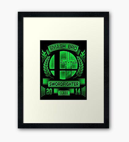 Smash Bro Swordfighter Framed Print
