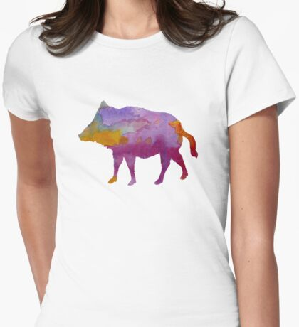 Boar Womens Fitted T-Shirt