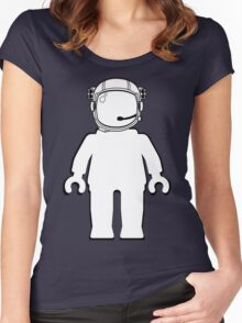 Banksy Style Astronaut Minifigure by Customize My Minifig Women's Fitted Scoop T-Shirt