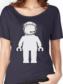 Banksy Style Astronaut Minifigure by Customize My Minifig Women's Relaxed Fit T-Shirt