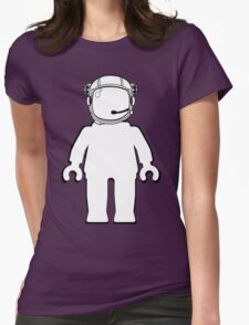 Banksy Style Astronaut Minifigure by Customize My Minifig Womens Fitted T-Shirt