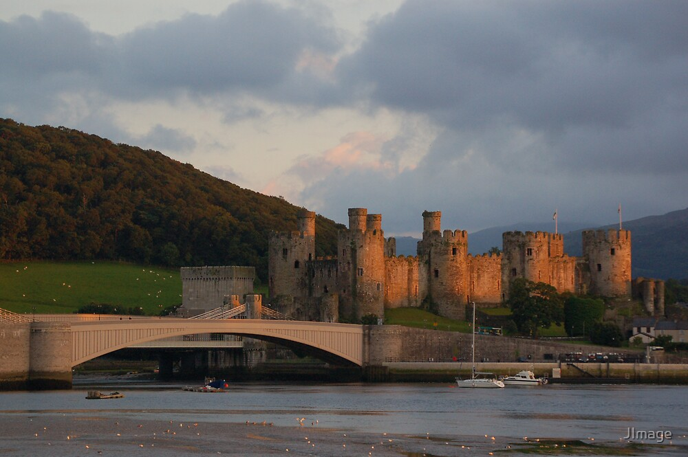 Conwy Castle sunset by JImage