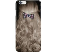 Curled Hair with Feminist Bow iPhone Case/Skin