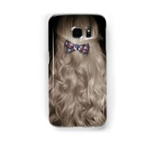 Curled Hair with Feminist Bow Samsung Galaxy Case/Skin
