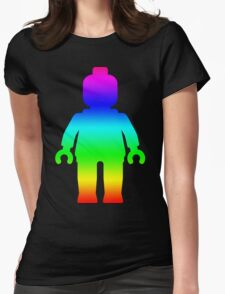 Minifig [Large Rainbow 1]  Womens Fitted T-Shirt