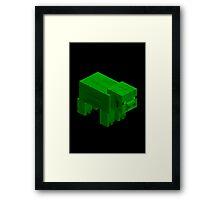 GREEN PIG  Framed Print