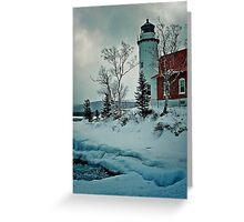 Eagle Harbor Light Greeting Card