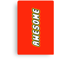 AWESOME by Customize My Minifig Canvas Print