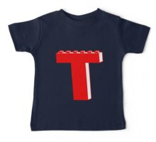 THE LETTER T by Customize My Minifig Baby Tee