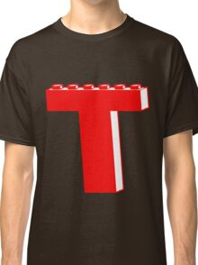 THE LETTER T by Customize My Minifig Classic T-Shirt
