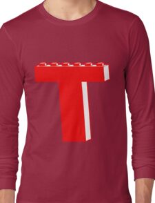 THE LETTER T by Customize My Minifig Long Sleeve T-Shirt