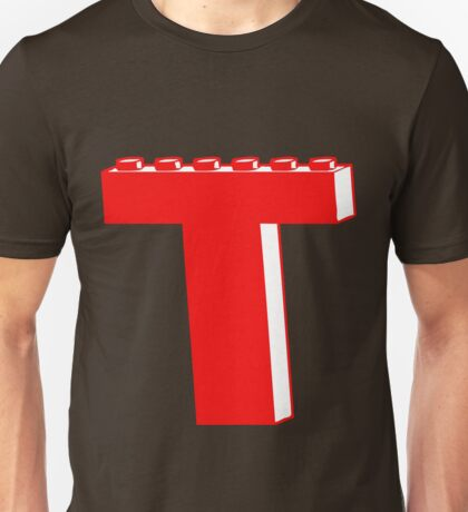 THE LETTER T by Customize My Minifig Unisex T-Shirt