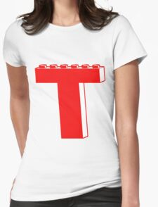 THE LETTER T by Customize My Minifig Womens Fitted T-Shirt