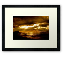 Good Morning Bar Beach Framed Print