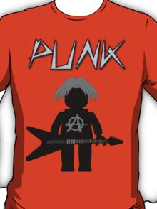 Punk Guitarist Minifig by Customize My Minifig T-Shirt