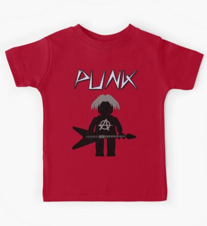 Punk Guitarist Minifig by Customize My Minifig Kids Tee