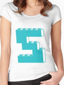 THE LETTER S by Customize My Minifig Women's Fitted Scoop T-Shirt