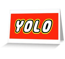 YOLO Greeting Card
