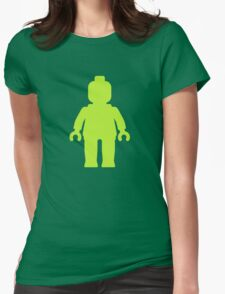 Minifig [Lime Green]  Womens Fitted T-Shirt