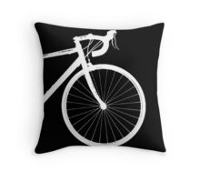 inverted bike Throw Pillow