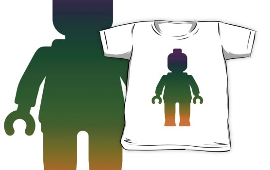Minifig [Large Rainbow 3] by Customize My Minifig