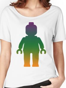 Minifig [Large Rainbow 3] Women's Relaxed Fit T-Shirt