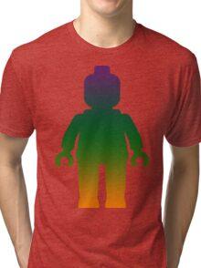 Minifig [Large Rainbow 3] Tri-blend T-Shirt