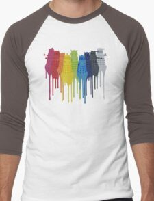 Dalek Extermination Rainbow Men's Baseball ¾ T-Shirt
