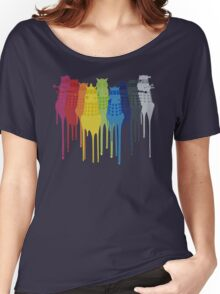 Dalek Extermination Rainbow Women's Relaxed Fit T-Shirt
