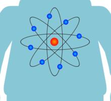 Minifig with Atom Symbol  Sticker
