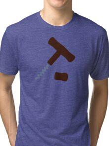 Corkscrew Wine Tri-blend T-Shirt