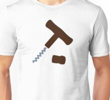 Corkscrew Wine Unisex T-Shirt