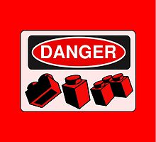 Danger Bricks Sign  by Customize My Minifig