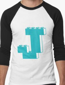 THE LETTER J by Customize My Minifig Men's Baseball ¾ T-Shirt