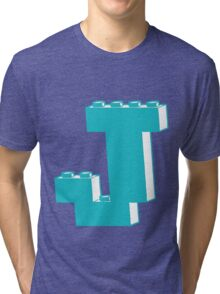 THE LETTER J by Customize My Minifig Tri-blend T-Shirt
