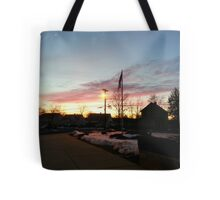 Dusk in Winter Tote Bag
