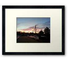 Dusk in Winter Framed Print