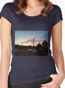 Dusk in Winter Women's Fitted Scoop T-Shirt