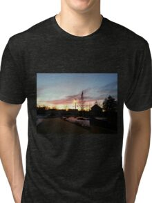 Dusk in Winter Tri-blend T-Shirt