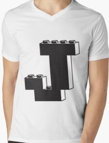 THE LETTER J  Mens V-Neck T-Shirt