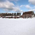 snowy farm by Bente Hasler