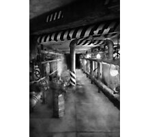 Steampunk - The steam tunnel Photographic Print
