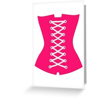 Pink Corsage Greeting Card