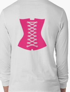 Pink Corsage Long Sleeve T-Shirt