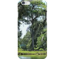 Oak Trees Over Pond iPhone Case/Skin