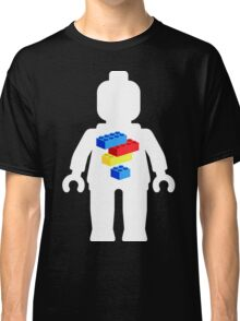 White Minifig with Bricks Logo by Customize My Minifig Classic T-Shirt