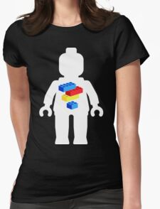 White Minifig with Bricks Logo by Customize My Minifig Womens Fitted T-Shirt
