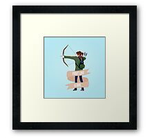 Fight Like a Girl: Ellie Framed Print