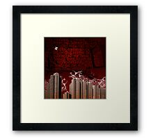 Urban Tagging - Dark City Framed Print